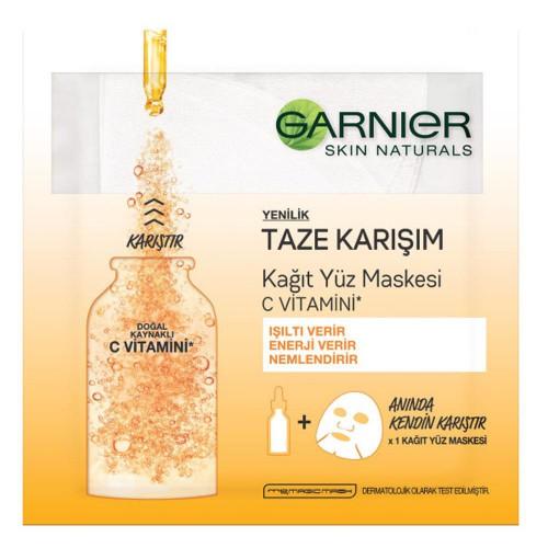 Garnier Taze Karışım Kağıt Yüz Maskesi C Vitamini 33gr