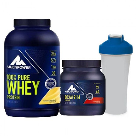Multipower Pure Whey Protein 900 Gr + BCAA Powder Kombinasyonu