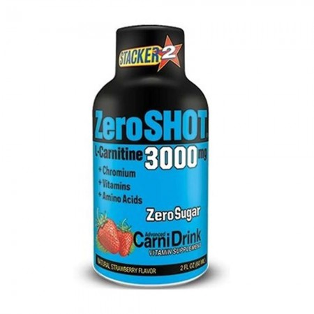 Zero Shot Çilek Aromalı L-Cartine 60ml